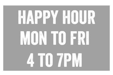 happy hour 4to7pm
